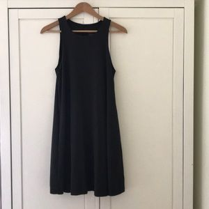 Grana Black Trapeze Dress, Small